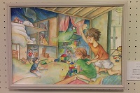 高校美術展出展作品『おしいれっ子』/中村美葉(挿絵:ザプレイズプロフィール)